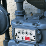 Close up of gas meter
