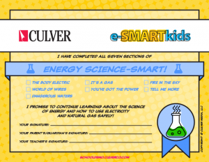 Energy Science-SMART certificate
